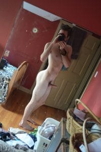Posing Fully Nude In The Mirror
