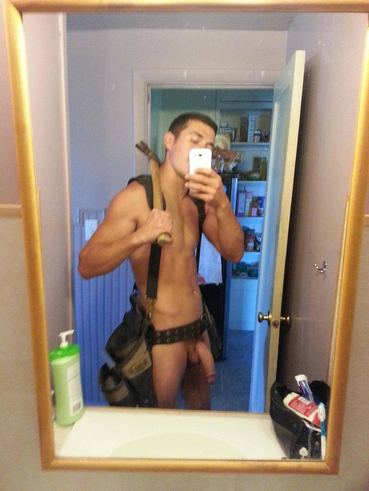 Hot Guy Shows A Hung Dick